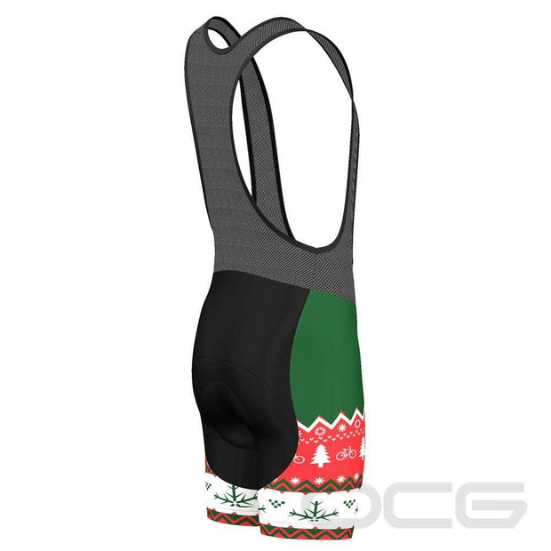 Men's Christmas Sweater Pro-Band Cycling Bibs By Online Cycling Gear