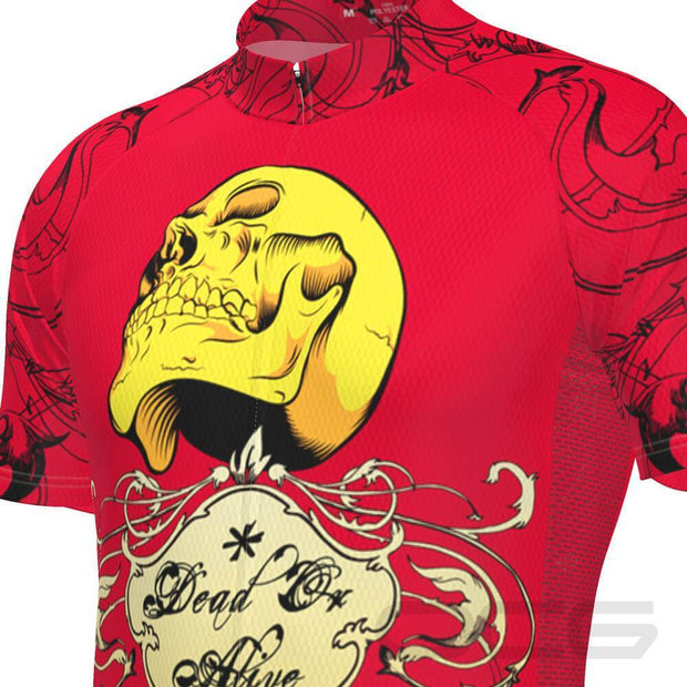 Men's Dead or Alive Red Skull Cycling Jersey By OCG Originals