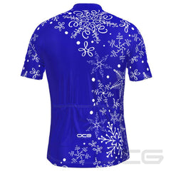 Men's Festive Snowflake Cycling Jersey By OCG Originals