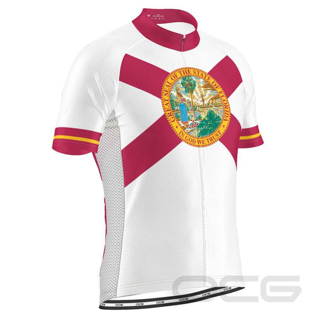 Men's Florida State Flag Cycling Jersey By OCG Originals
