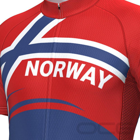 Men's Norway Bold Flag Short Sleeve Cycling Jersey By OCG Originals