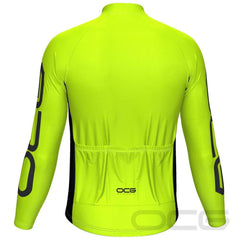 Men's OCG High Viz Neon Long Sleeve Cycling Jersey By OCG Originals