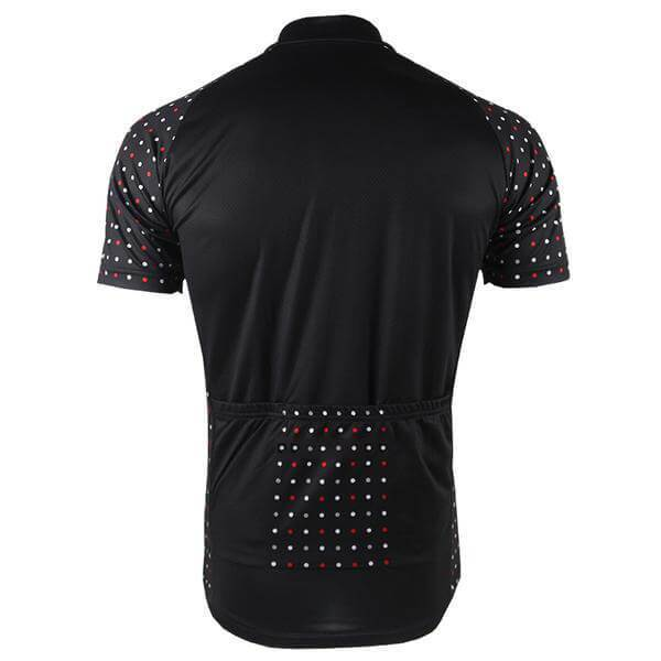 Men's Polka Dot Sleeve Black Cycling Jersey By Online Cycling Gear