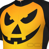 Men's Pumpkin Head Short Sleeve Cycling Jersey By OCG Originals