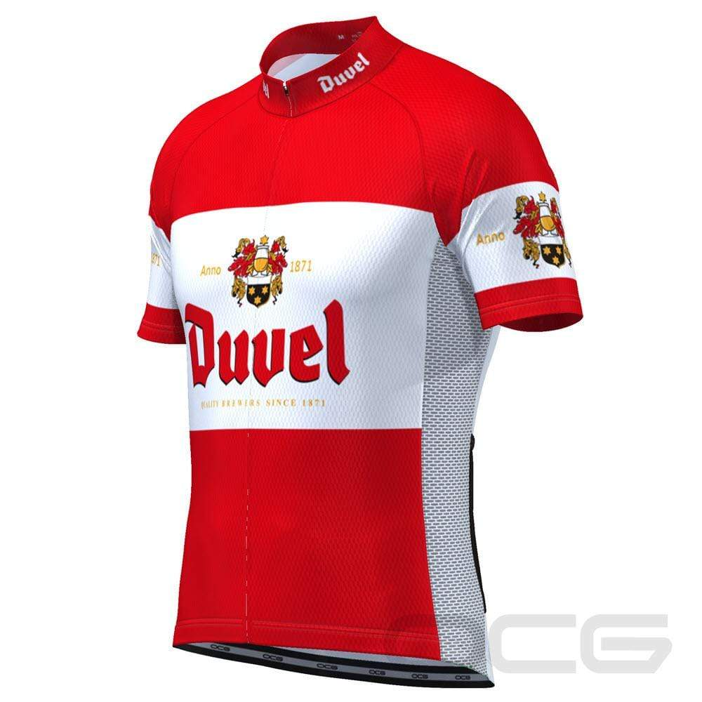 Red Duvel Short Sleeve Cycling Jersey