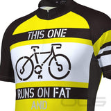 Men's Runs on Fat Short Sleeve Cycling Jersey By Online Cycling Gear