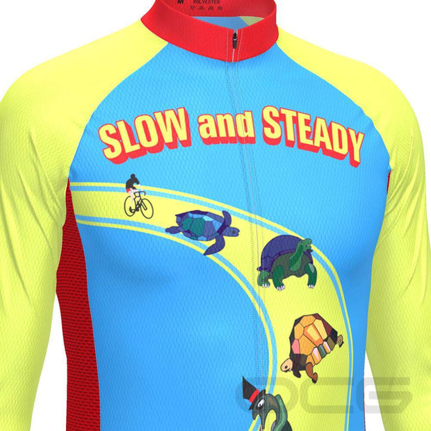 Men's Slow and Steady Long Sleeve Cycling Jersey By Online Cycling Gear