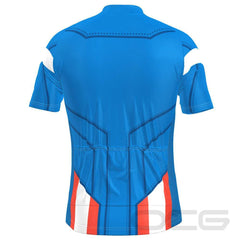 Men's The Captain USA Flag Short Sleeve Cycling Jersey By OCG Originals