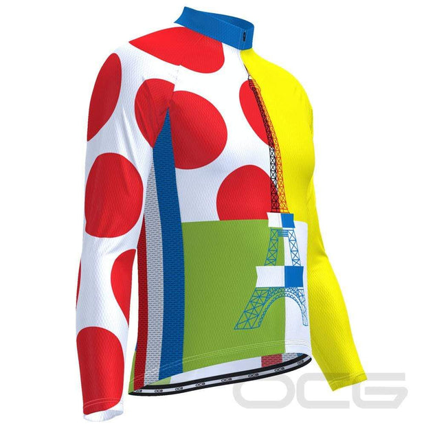 Men's Tour de France Leaders KOM Sprinters Long Sleeve Cycling Jersey By OCG Originals