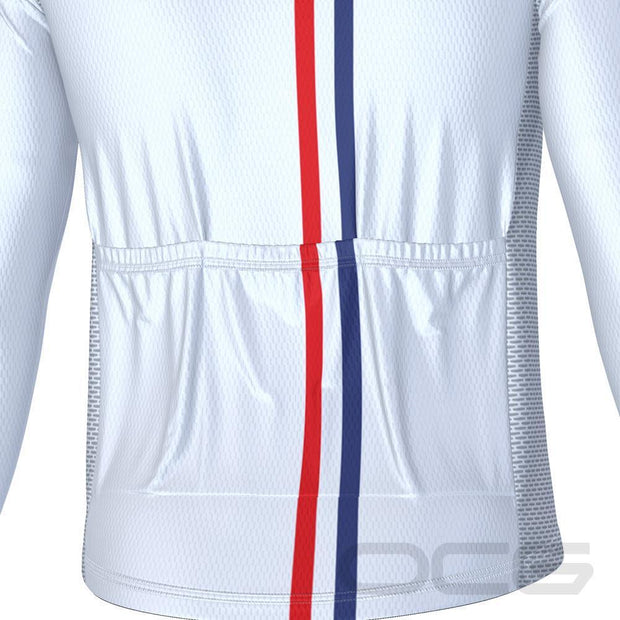 Men's USA Star Long Sleeve Cycling Jersey By Online Cycling Gear