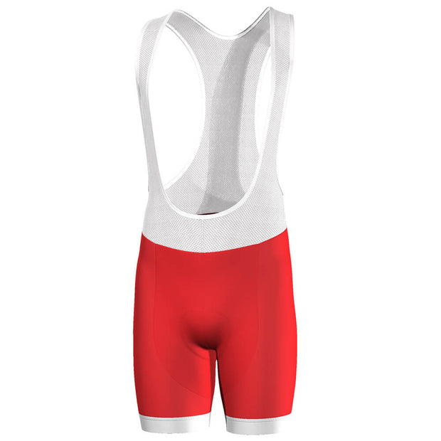 Men's Christmas Red Pro-Band Cycling Bibs
