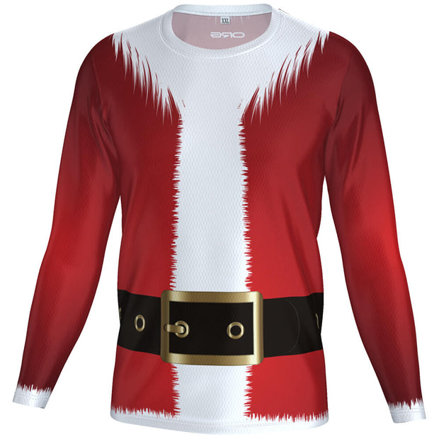 ORG Santa Men's Technical Long Sleeve Running Shirt