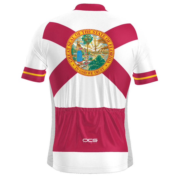 Men's Florida State Flag Short Sleeve Cycling Jersey