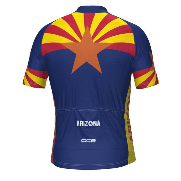 Men's Arizona State Flag Short Sleeve Cycling Jersey