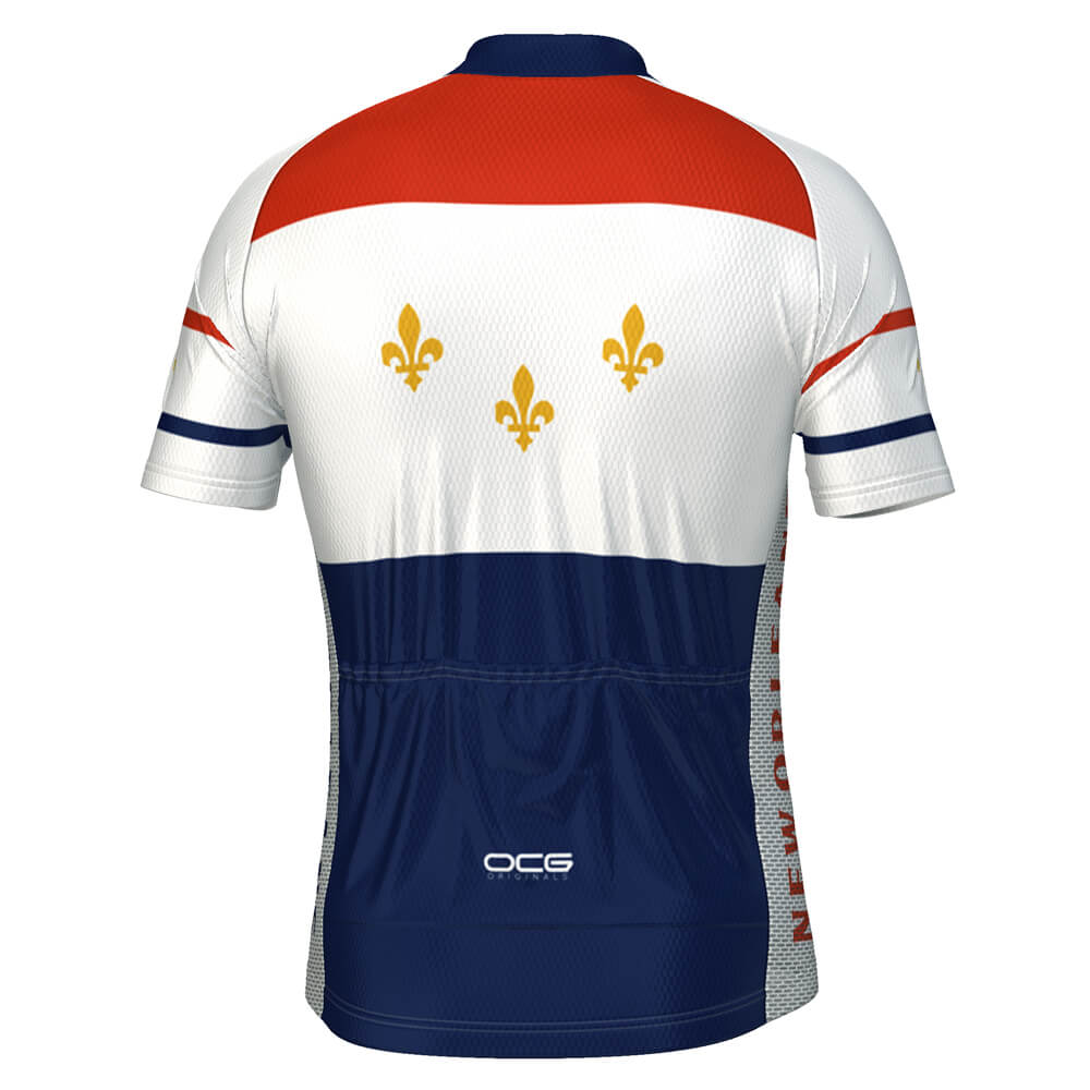 Men's New Orleans USA State Short Sleeve Cycling Jersey