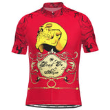 Men's Dead or Alive Red Skull Cycling Jersey