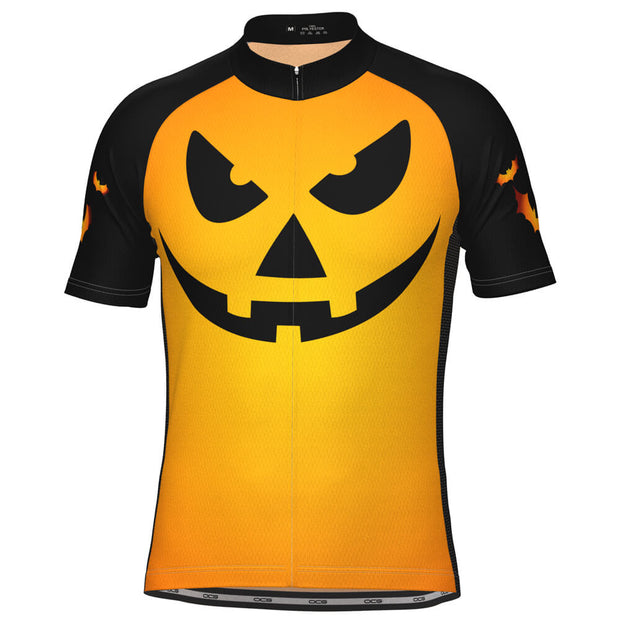 Men's Pumpkin Head Short Sleeve Cycling Jersey