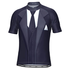 Men's Suit and Tie Short Sleeve Cycling Jersey