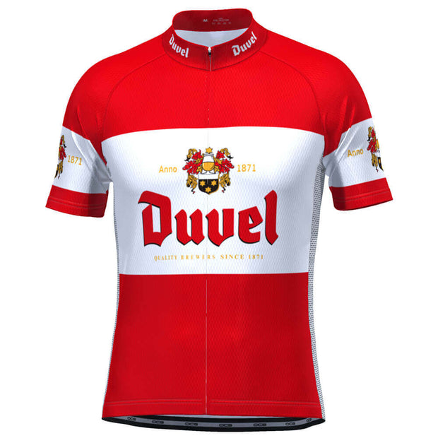 Men's Red Duvel Short Sleeve Cycling Jersey