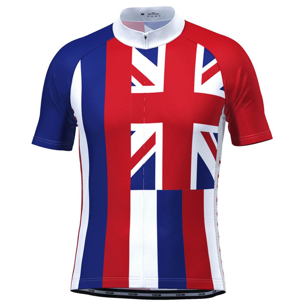 Men's Hawaii State Flag Short Sleeve Cycling Jersey