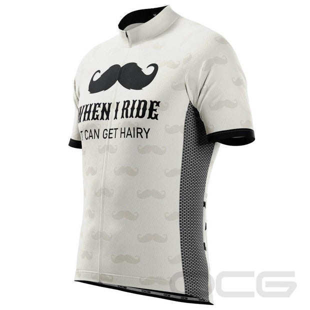 Men's Hairy Mustache Short Sleeve Cycling Jersey