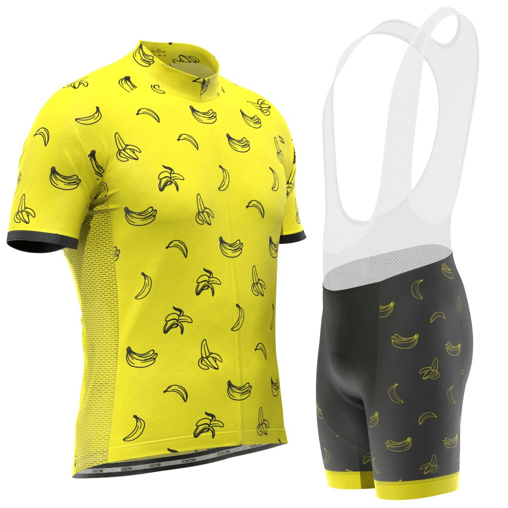 Men's Must Be Bananas Short Sleeve Cycling Kit