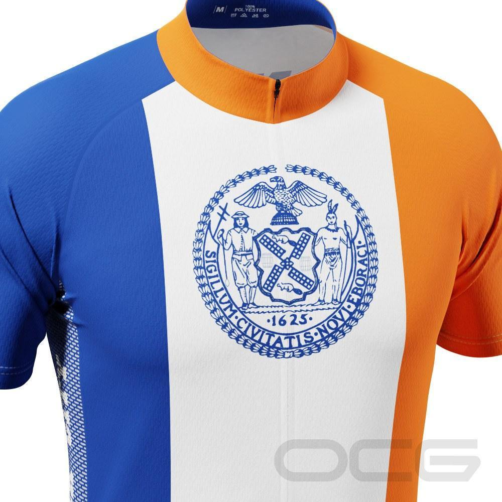 Men's New York City Flag Short Sleeve Cycling Jersey - Online Cycling Gear