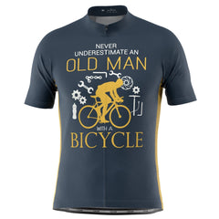 Men's Old Man Bicycle Short Sleeve Cycling Jersey