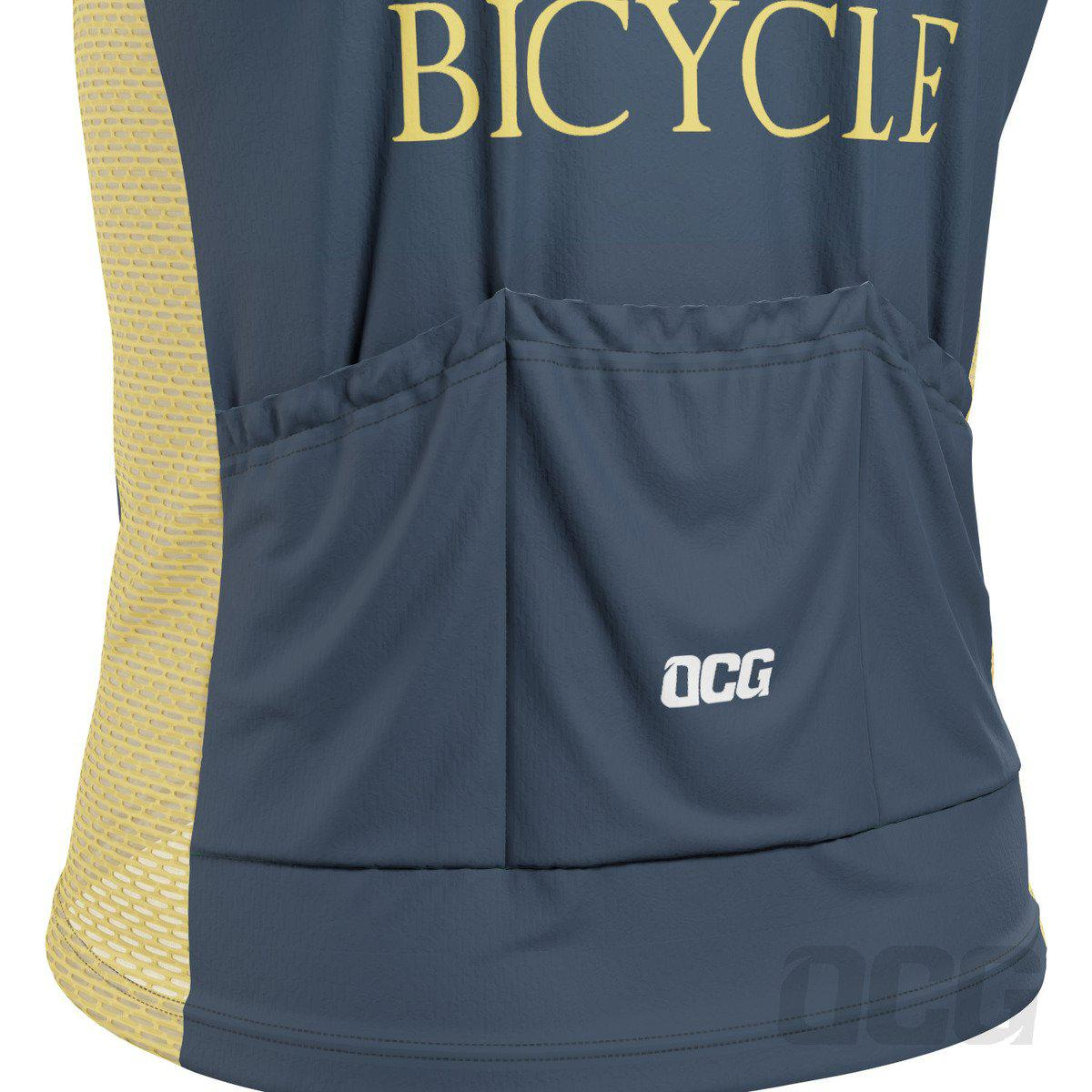 Men's Old Man Bicycle Sleeveless Cycling Jersey