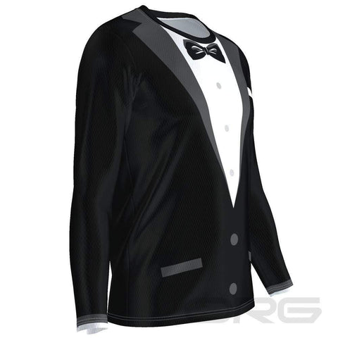 ORG Black Tie Tuxedo Long Sleeve Performance Running Shirt By Online Running Gear