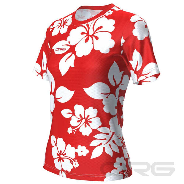 ORG Hawaiian Shirt Women's Technical Running Shirt By Online Running Gear