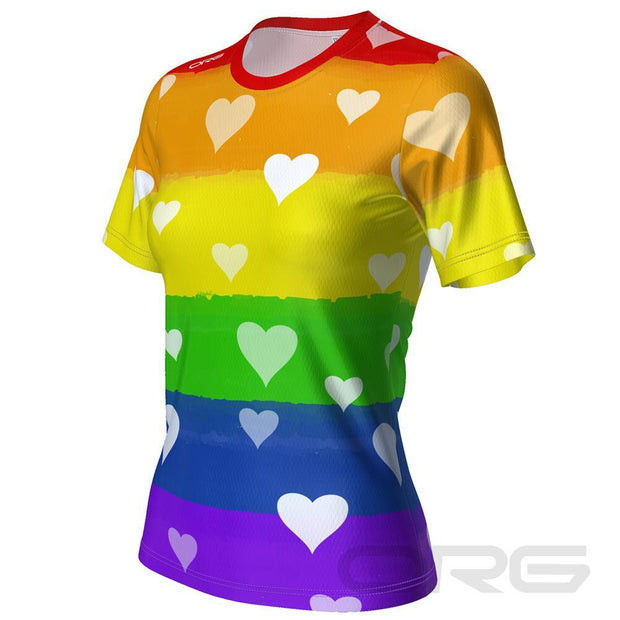 ORG Rainbow Love Women's Technical Running Shirt By Online Running Gear