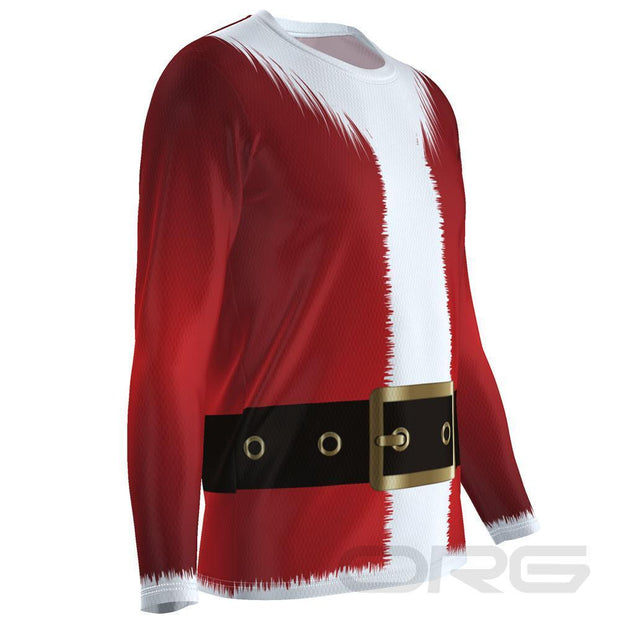 ORG Santa Men's Technical Long Sleeve Running Shirt By Online Running Gear