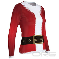 ORG Santa Women's Technical Long Sleeve Running Shirt By Online Running Gear