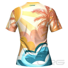 ORG Tropical Sunrise Women's Technical Running Shirt By Online Running Gear