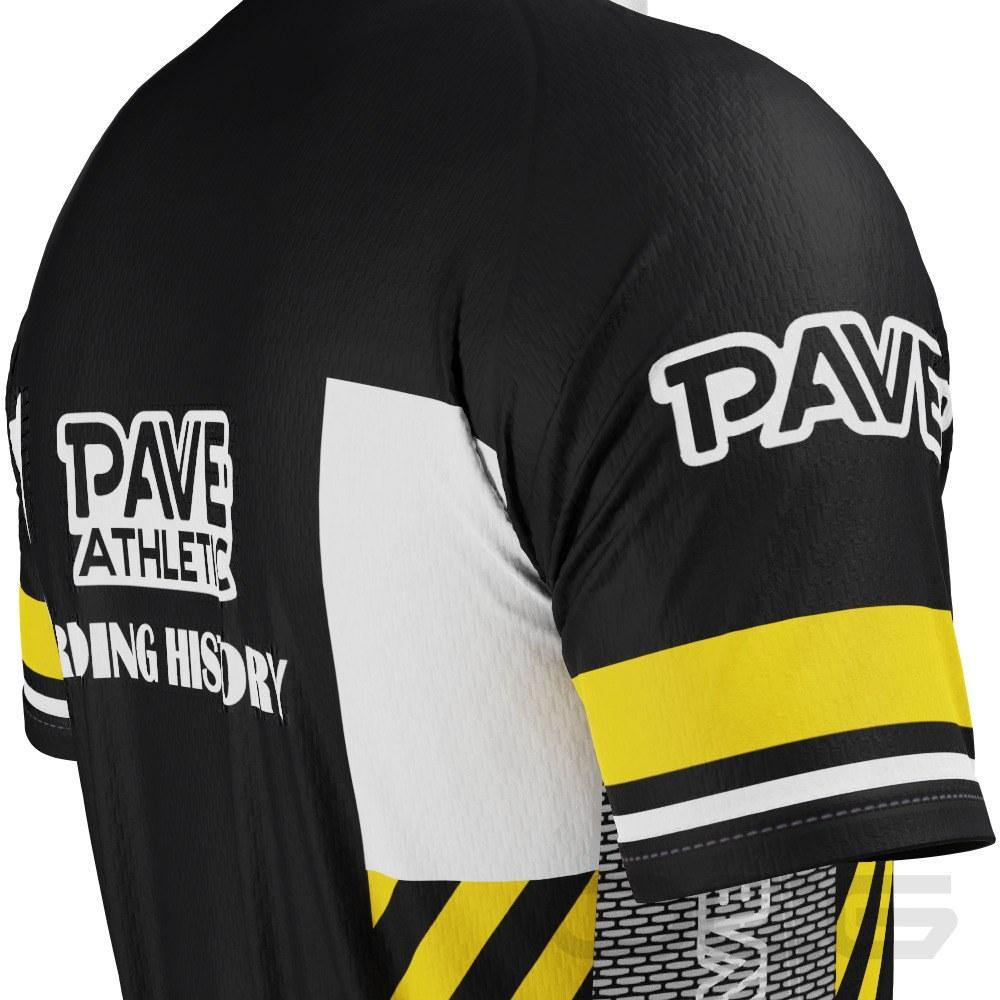 PAVE Athletic Retro Auto Black Short Sleeve Cycling Jersey - Online Cycling Gear