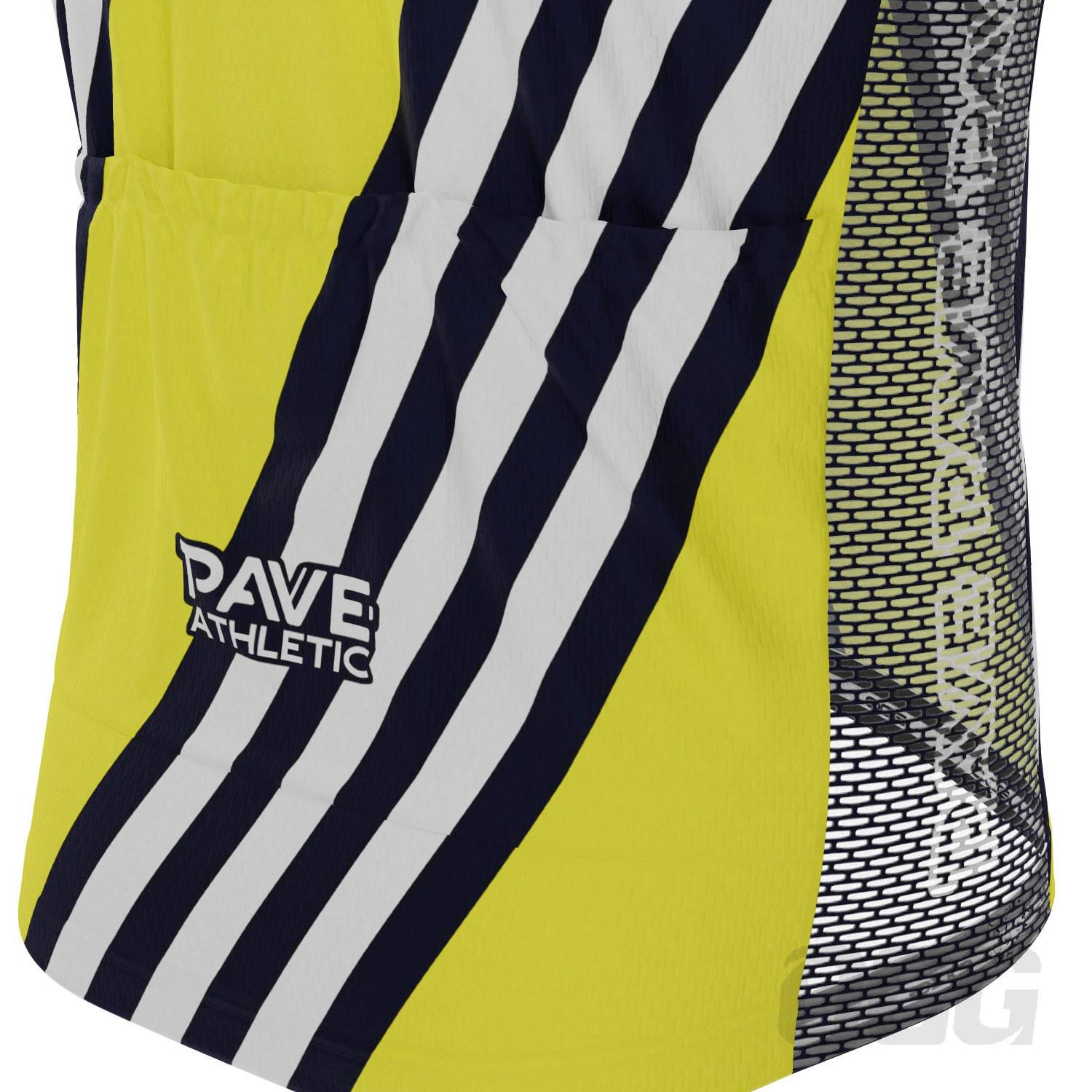 PAVE Athletic Retro Auto Yellow Short Sleeve Cycling Kit