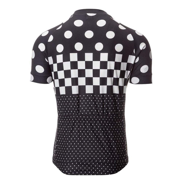 Polka Dot Checkered Flag Cycling Jersey By Online Cycling Gear