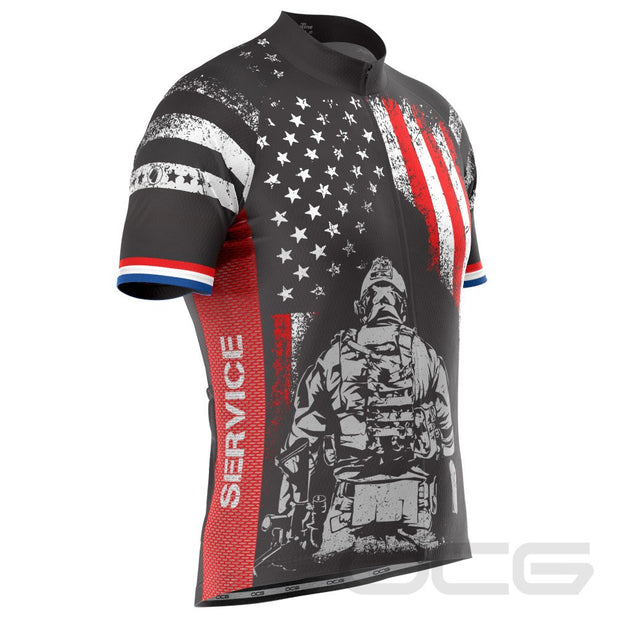Men's Military Service Sacrifice Short Sleeve Cycling Jersey