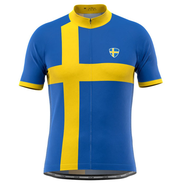 Men's Sweden Swedish Flag National Cycling Jersey