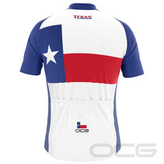 Men's Texas State Flag Short Sleeve Cycling Jersey