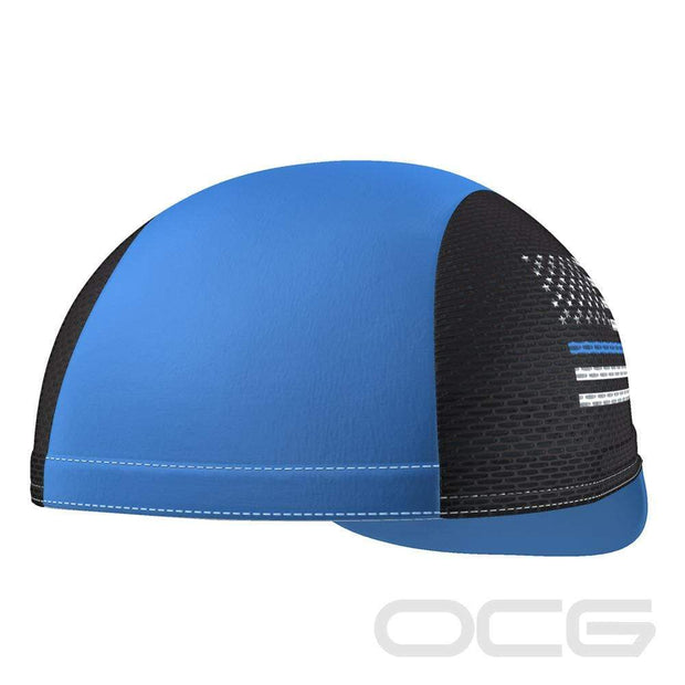 Thin Blue Line American Flag Quick-Dry Cycling Cap By OCG Originals