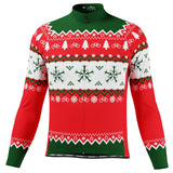 Men's Ugly Christmas Sweater Long Sleeve Cycling Jersey