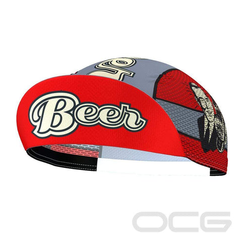 Unisex Beer Quick-Dry Red Cycling Cap By OCG Originals