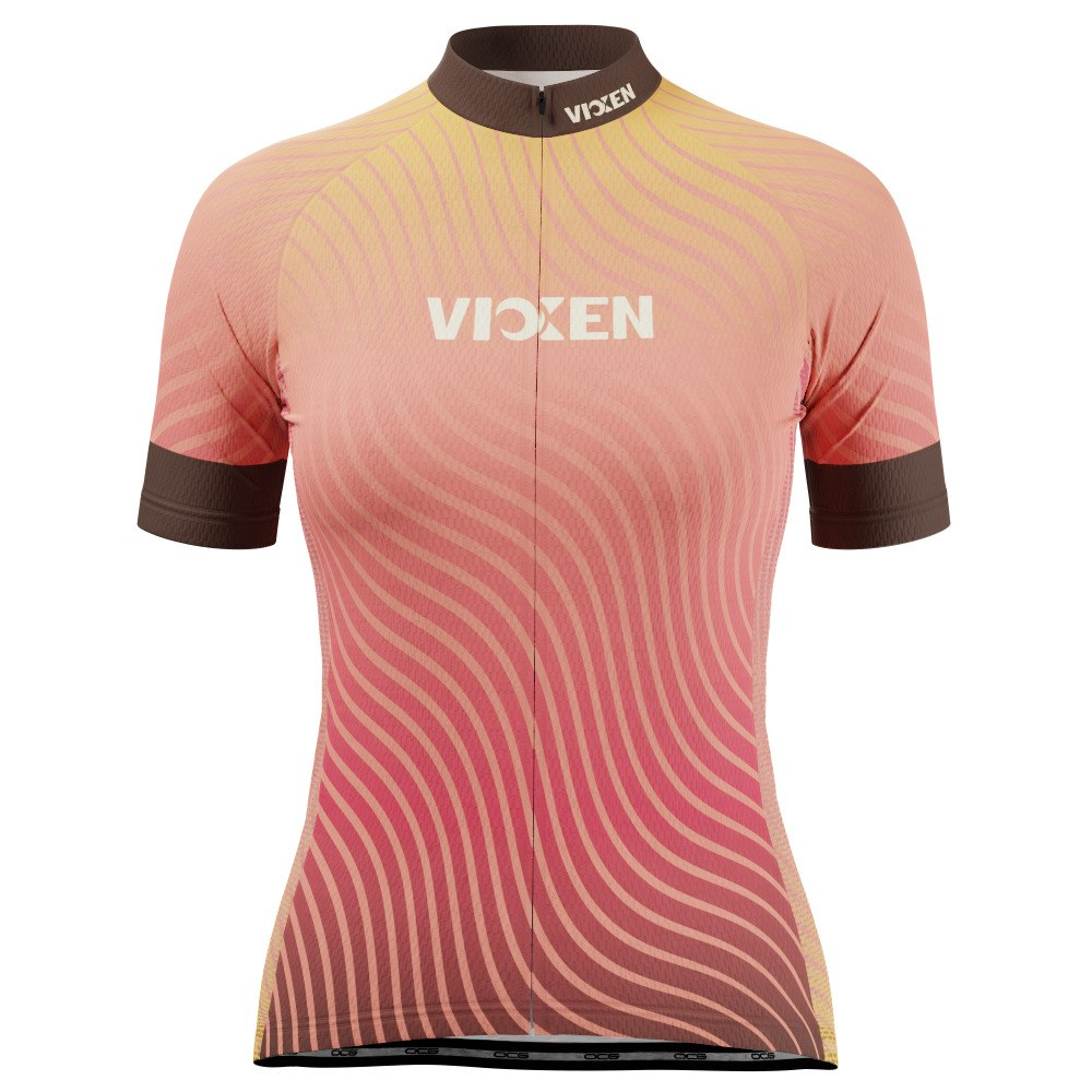 Vixen Women's Four Seasons Fall Short Sleeve Cycling Jersey
