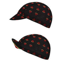 Watermelon Quick-Dry Black Cycling Cap By Online Cycling Gear