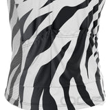 Men's White Tiger Sleeveless Cycling Jersey
