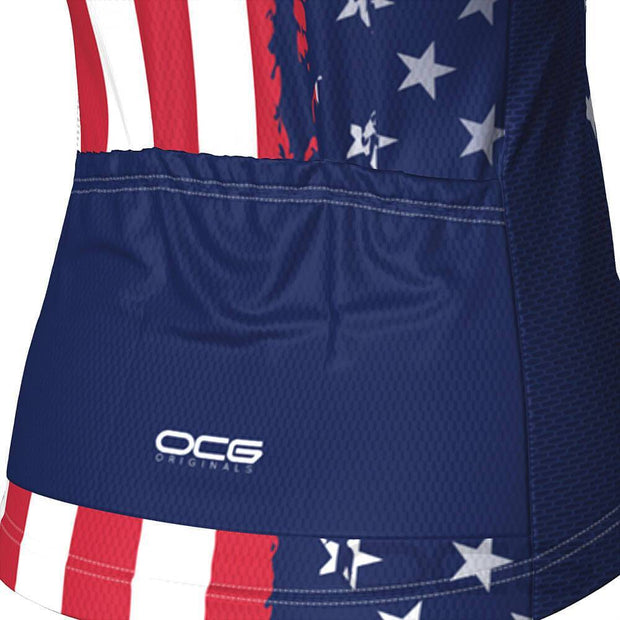 Women's Air Force American Flag Armed Forces Cycling Jersey By OCG Originals