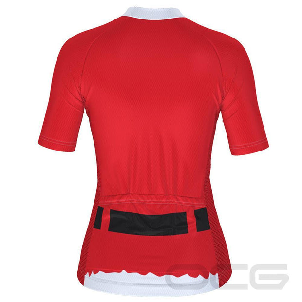 Women's Bearded Santa Short Sleeve Christmas Cycling Jersey By Online Cycling Gear