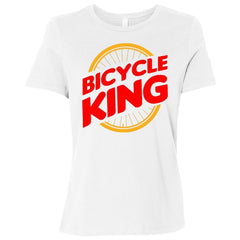 Women's Cycling King Relaxed Fit T-Shirt By CustomCat
